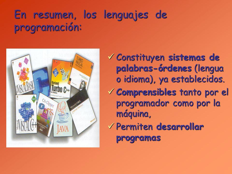 Clasificación de los Lenguajes de Programación: a) Lenguajes de Alto-Bajo nivel b) Lenguajes Interpretados o Compilados c) Lenguajes clásicos, visuales y de Internet d) Por el objetivo