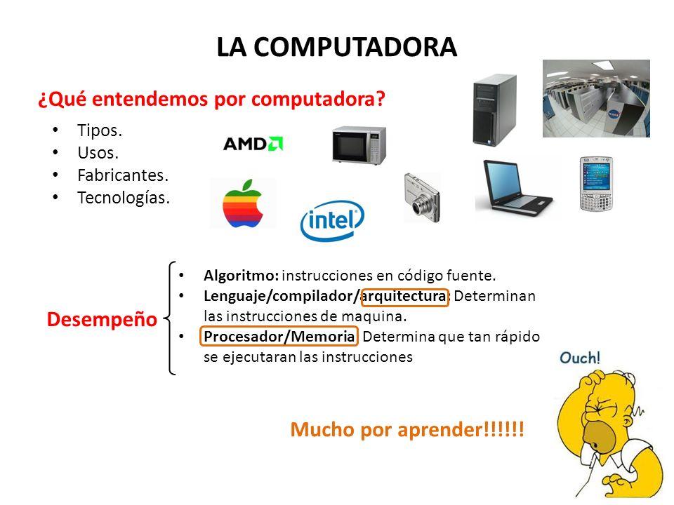LA COMPUTADORA ¿Qué entendemos por computadora.Tipos.