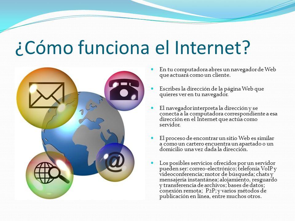 Localizador Uniforme de Recursos (URL) La dirección escrita en el navegador es también conocida como un localizador uniforme de recursos (URL).
