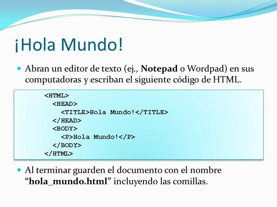 Atributos de Elementos HTML Los atributos son usados para describir y/o modificar un elemento HTML.