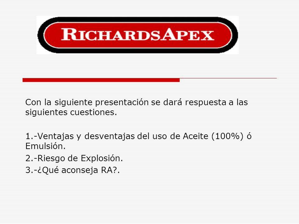 PRODUCTOS RICHARDSAPEX AD-510 COMPOUND: Se usa en su forma pura.