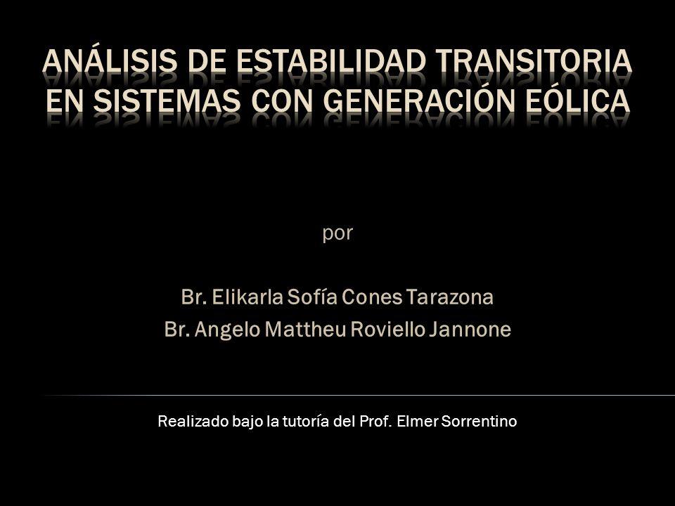Se desarrolló un programa de estabilidad para: a) Estabilidad clásica (Caso Anderson síncrono) b) Estabilidad de velocidad (Caso Anderson asíncrono) Se analizó el efecto de la inclusión de un parque eólico en un sistema académico de la Península de Paraguaná operando: a) Acoplado al SEN b) Aislado del SEN
