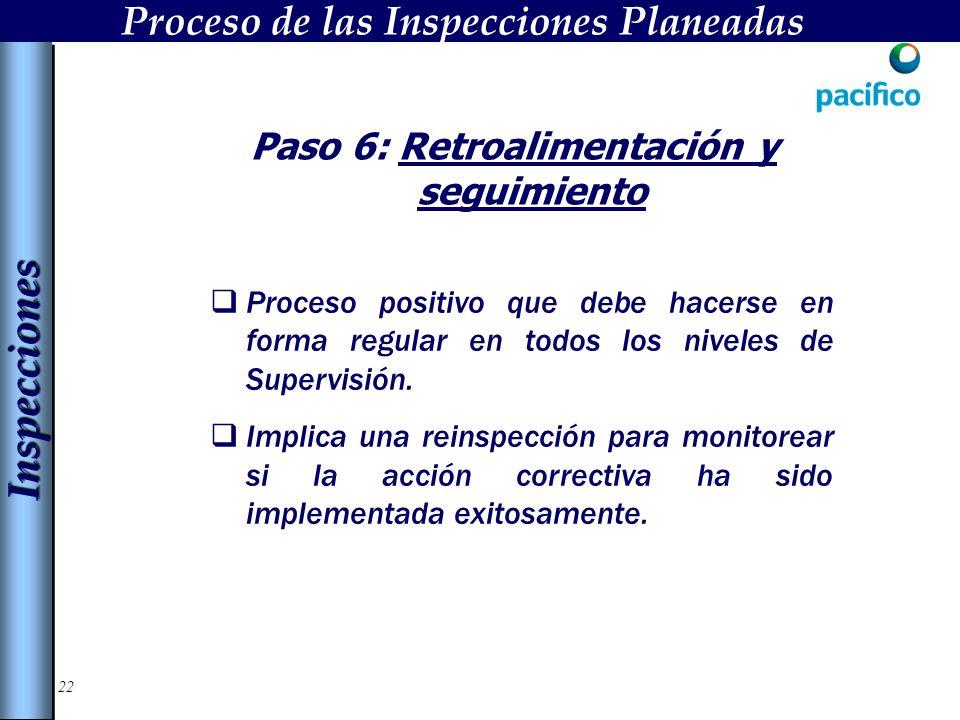 22 Paso 6: Retroalimentación y seguimiento Proceso positivo que debe hacerse en forma regular en todos los niveles de Supervisión.