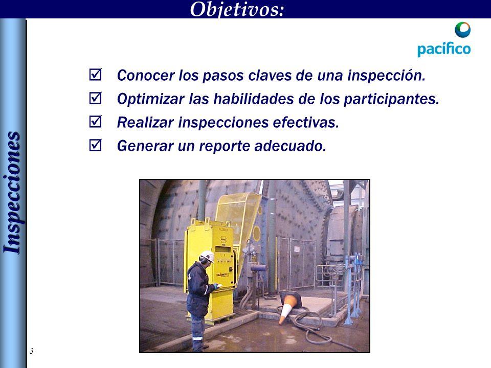 14 La inspección general es un recorrido planificado a lo largo y ancho de un área.