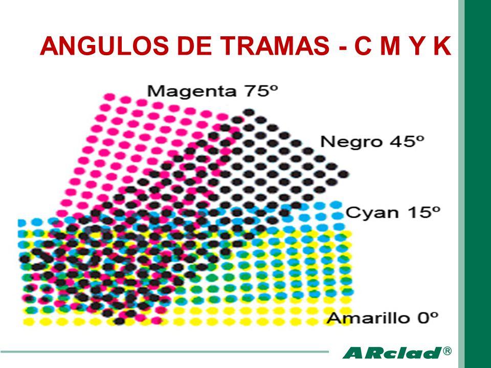 ANGULOS DE TRAMAS - C M Y K