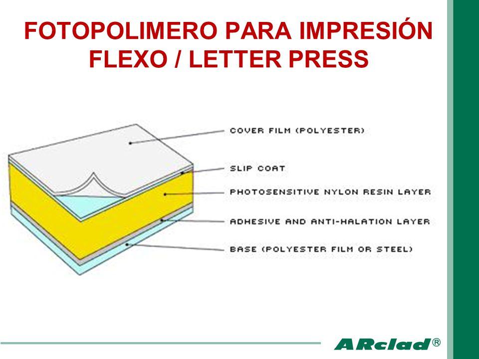 FOTOPOLIMERO PARA IMPRESIÓN FLEXO / LETTER PRESS
