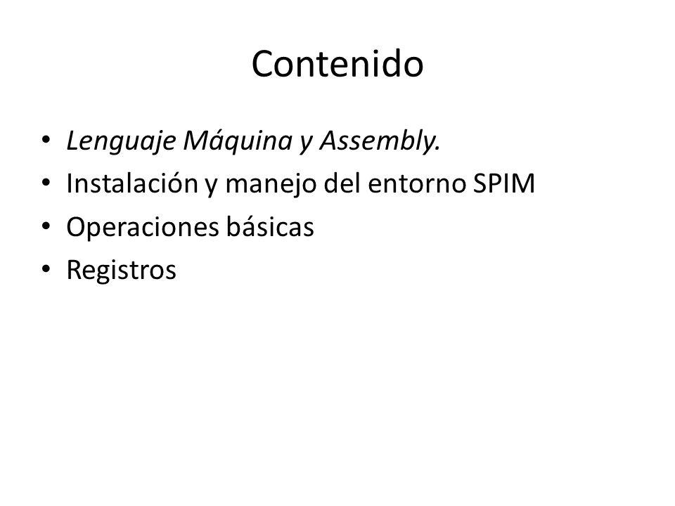 Contenido Lenguaje Máquina y Assembly.