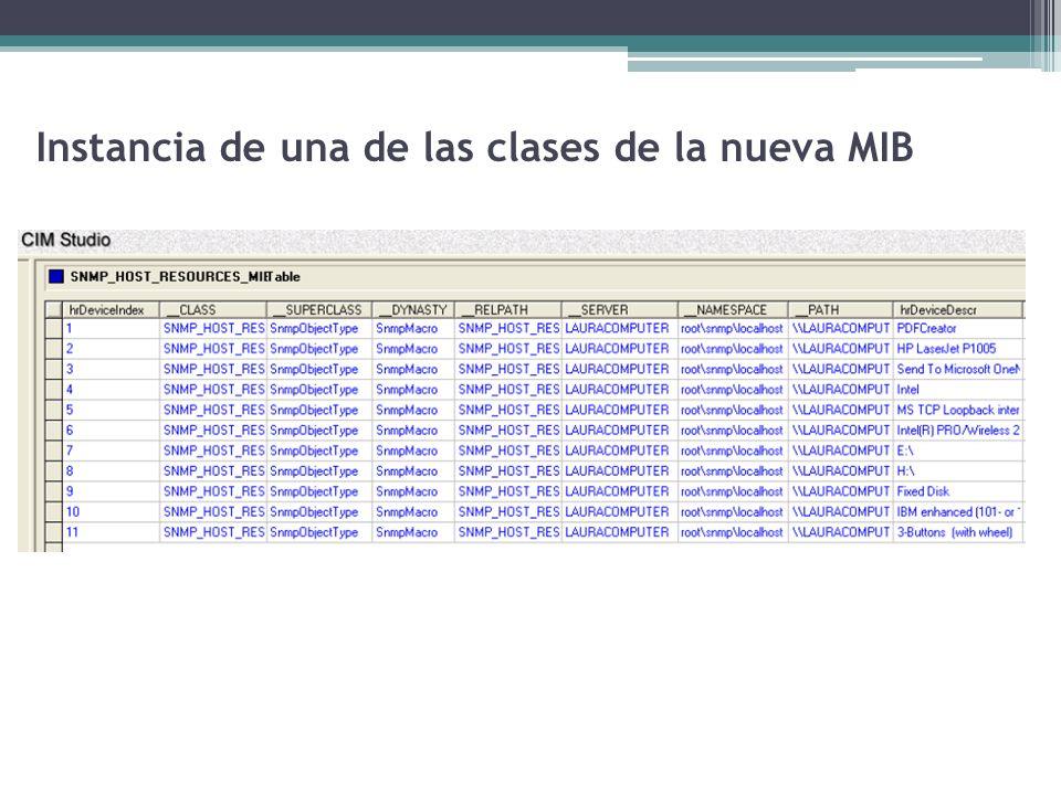Instancia de una de las clases de la nueva MIB