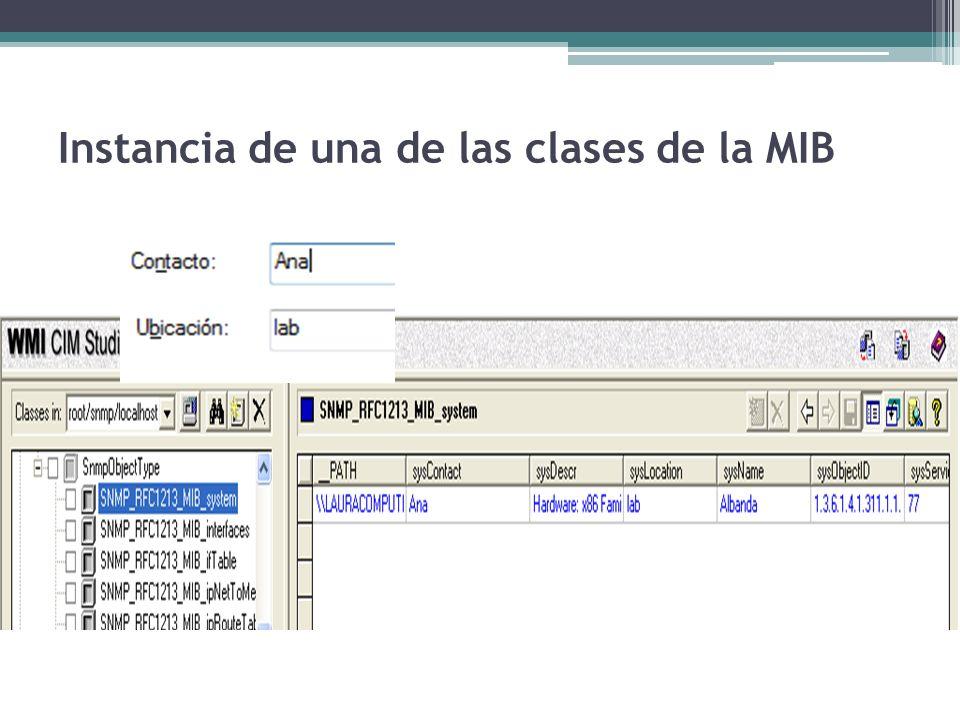 Instancia de una de las clases de la MIB