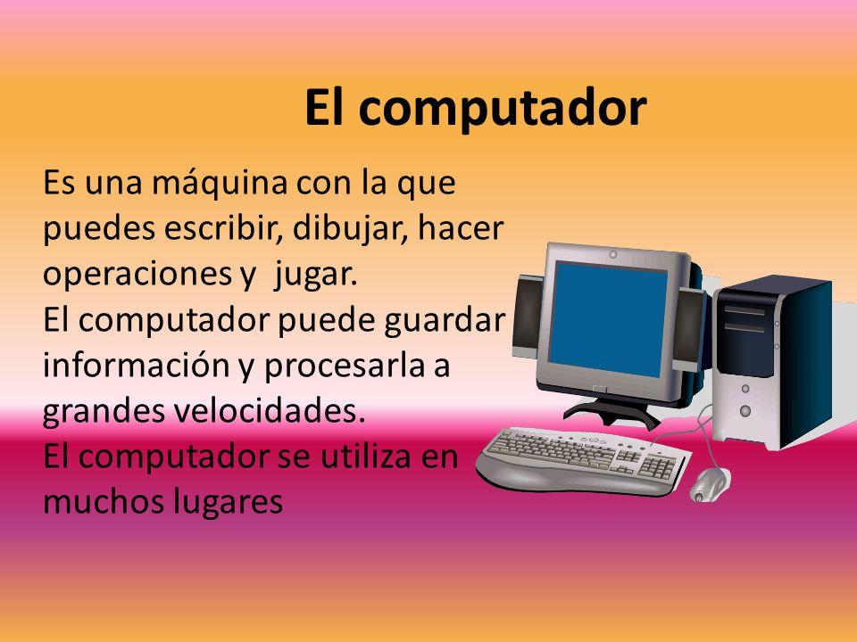 Las partes del computador LA CPU Es el cerebro del computador.