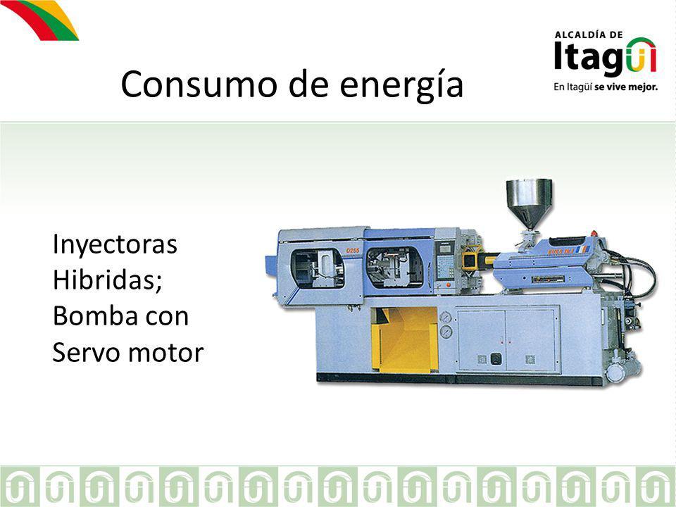 Consumo de energía Para el resto de maquinas con tecnología convencional; la empresa a implementado el uso de variadores de frecuencia para el control de los motores principales.