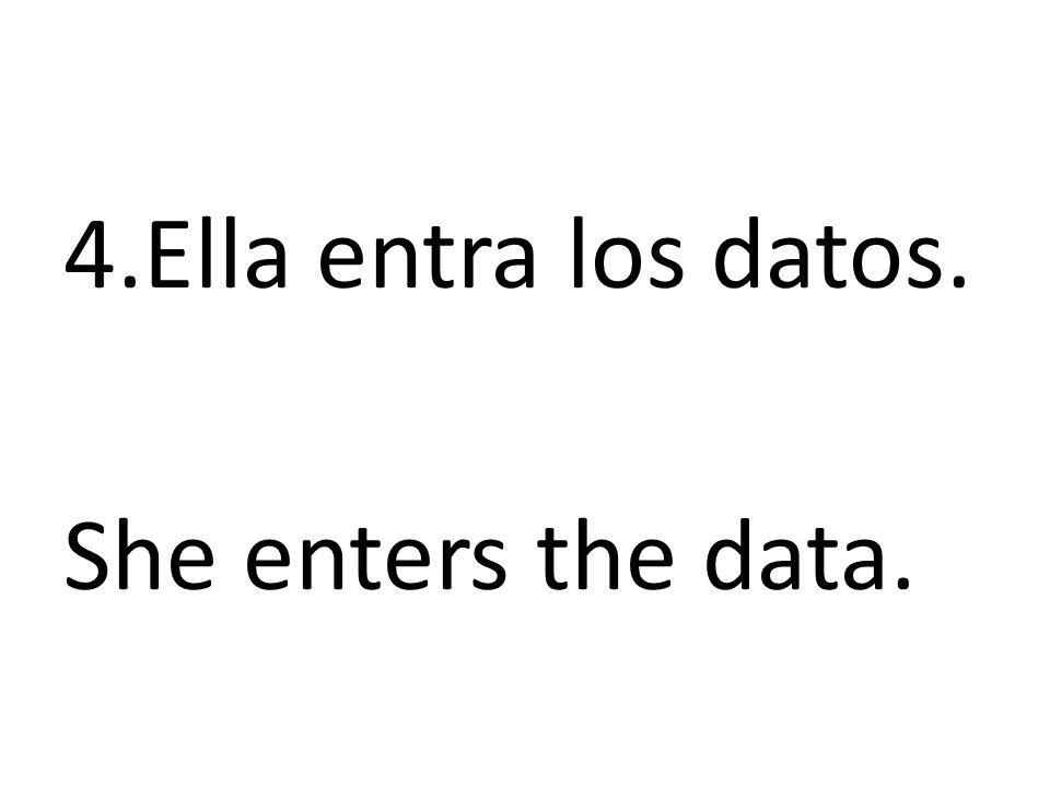 5.La muchacha no pierde los datos porque los guarda.