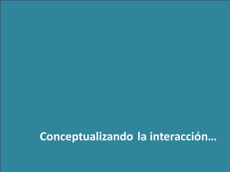 z Conceptualizando la interacción…