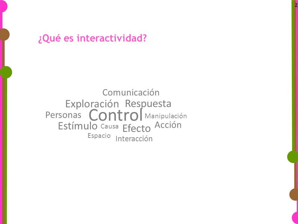 z ¿Qué es interactividad.