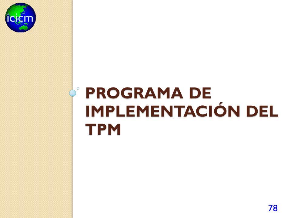 icicm PROGRAMA DE IMPLEMENTACIÓN DEL TPM 78