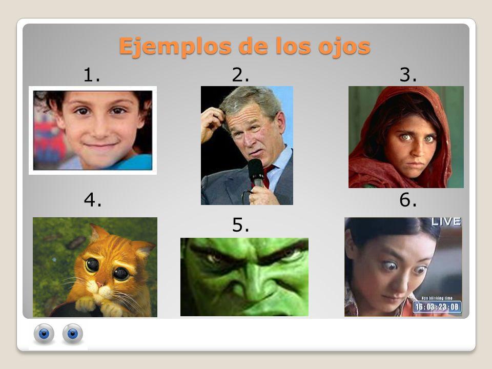 Ejemplos de los ojos 1.2. 3. 4. 6. 5.