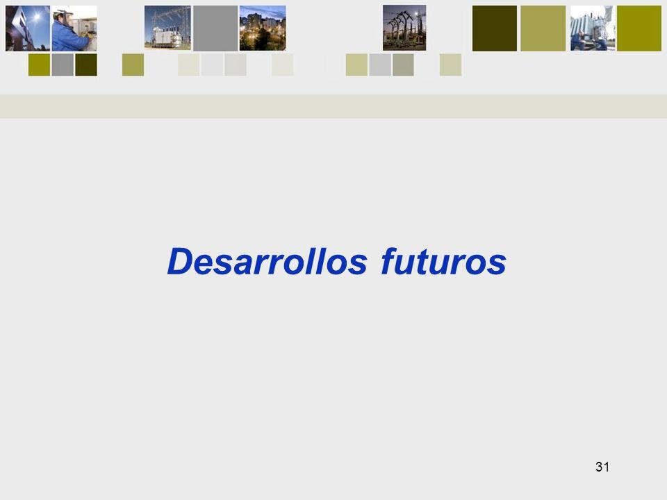 Desarrollos futuros 31