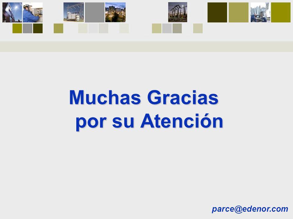 Muchas Gracias por su Atención parce@edenor.com