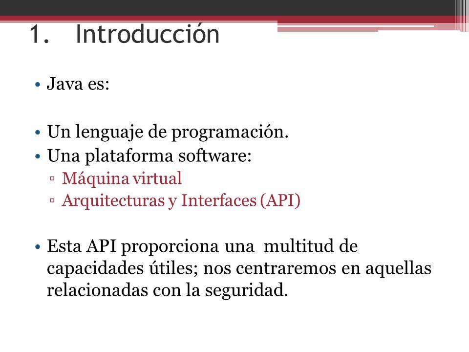1.Introducción Java es: Un lenguaje de programación.
