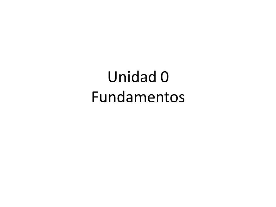 Unidad 0 Fundamentos