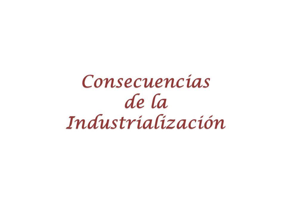 Consecuencias de la Industrialización