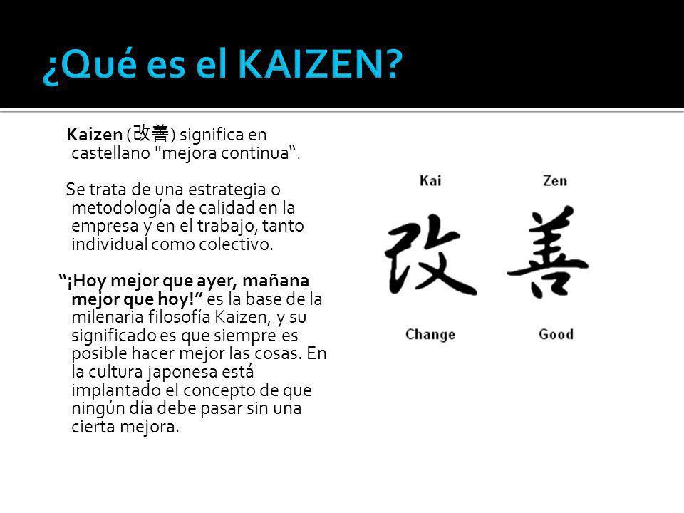 Kaizen ( ) significa en castellano