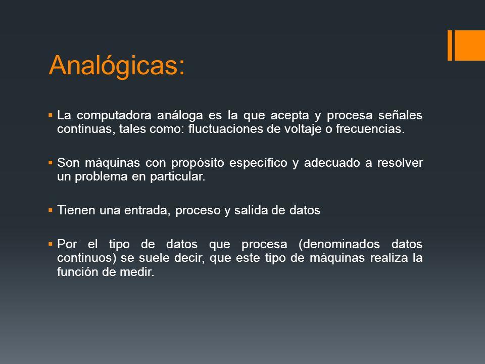 CLASIFICACION DE LAS COMPUTADORAS DE CONFORME A SU TAMAÑO Y POTENCIA Los parámetros que marcan la diferencia entre las computadoras son: tamaño, costo, velocidad de operación, capacidad de memoria, capacidad de procesamiento.