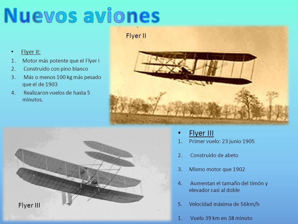 Flyer II: 1.Motor más potente que el Flyer I 2.Construido con pino blanco 3.