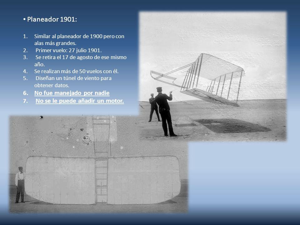 Planeador 1902 1.Mayor envergadura que el anterior.