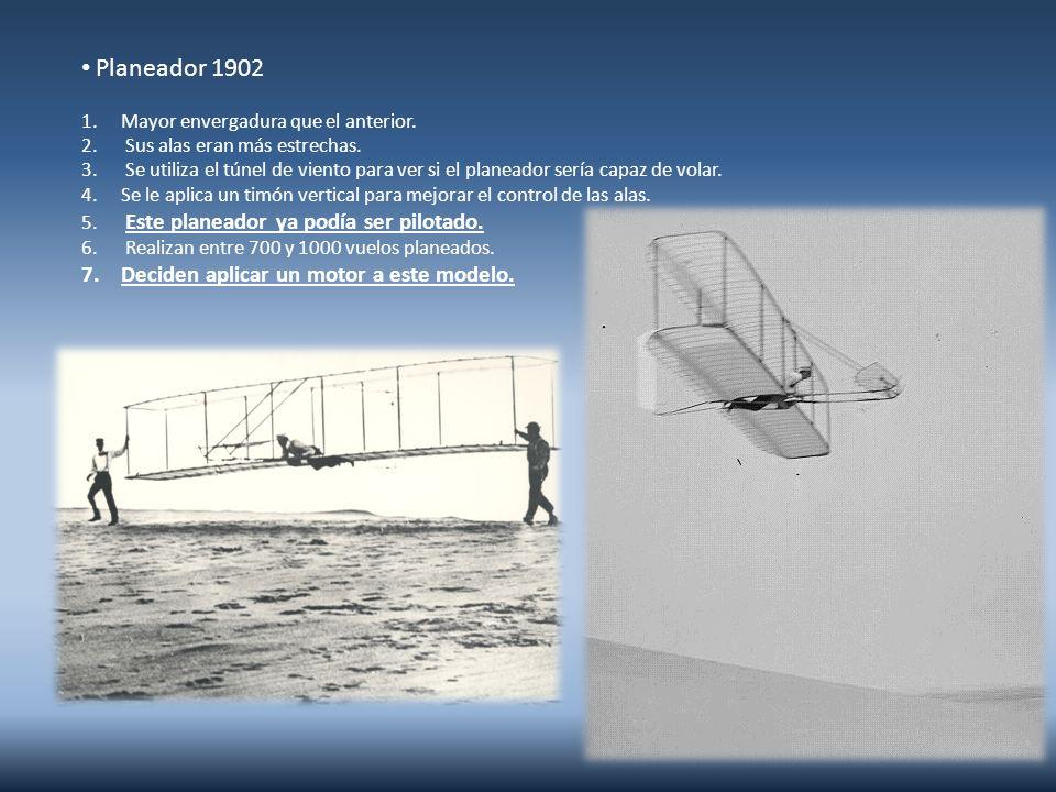 Fue construido a partir del planeador creado en 1902.