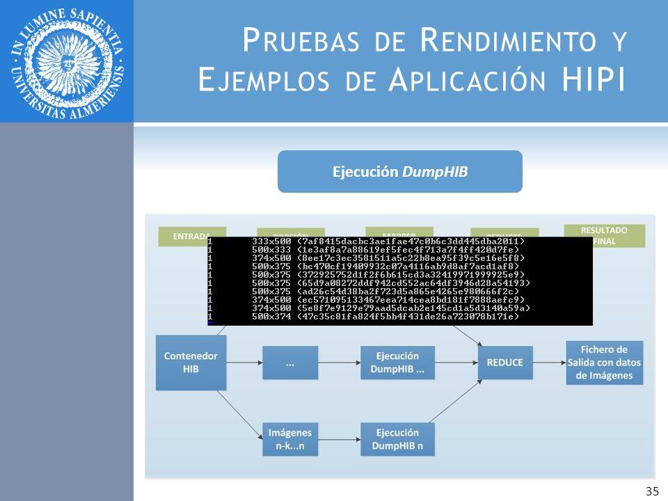 P RUEBAS DE R ENDIMIENTO Y E JEMPLOS DE A PLICACIÓN HIPI Ejecución DumpHIB 35