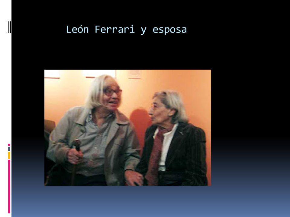 León Ferrari y esposa