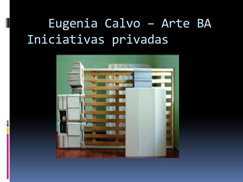 Eugenia Calvo – Arte BA Iniciativas privadas