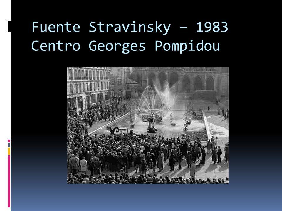Fuente Stravinsky – 1983 Centro Georges Pompidou