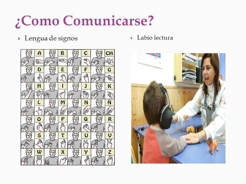 Lengua de signos Labio lectura