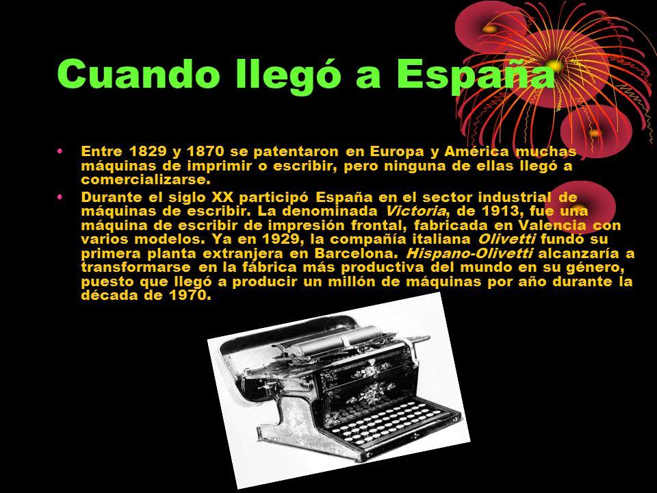 Máquina de escribir mecánica (2) Entre las compañías que manufacturaban máquinas de escribir y sus accesorios se encontraban Smith-Corona, Olympia, Ol