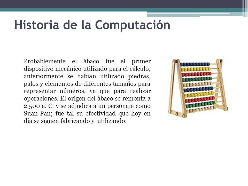 Probablemente el ábaco fue el primer dispositivo mecánico utilizado para el cálculo; anteriormente se habían utilizado piedras, palos y elementos de d