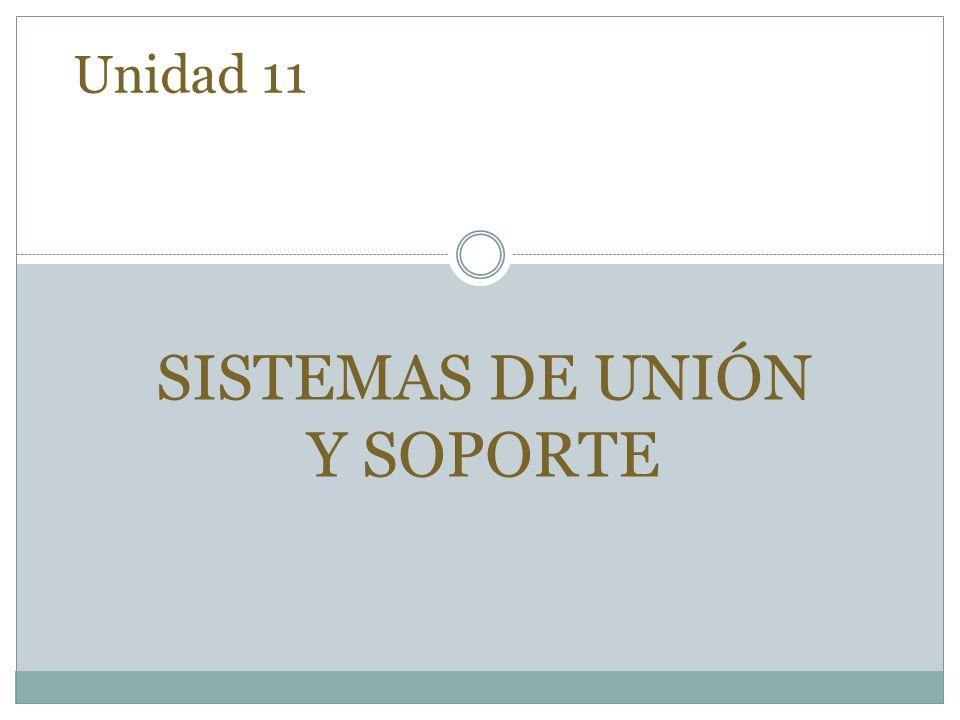 Unidad 11 SISTEMAS DE UNIÓN Y SOPORTE