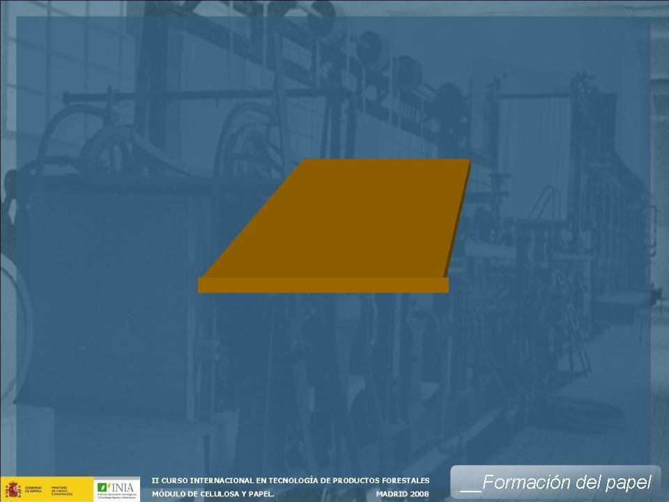 La Caja de Entrada es el elemento mas importante de la máquina de papel, en ella se trasforma el flujo cilíndrico que viene por los tubos, en una corriente plana en régimen laminar, uniforme en todo el ancho de la máquina.