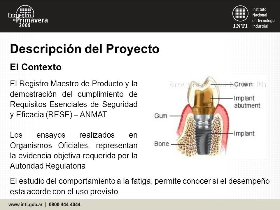 Descripción del Proyecto El Contexto El Registro Maestro de Producto y la demostración del cumplimiento de Requisitos Esenciales de Seguridad y Eficac