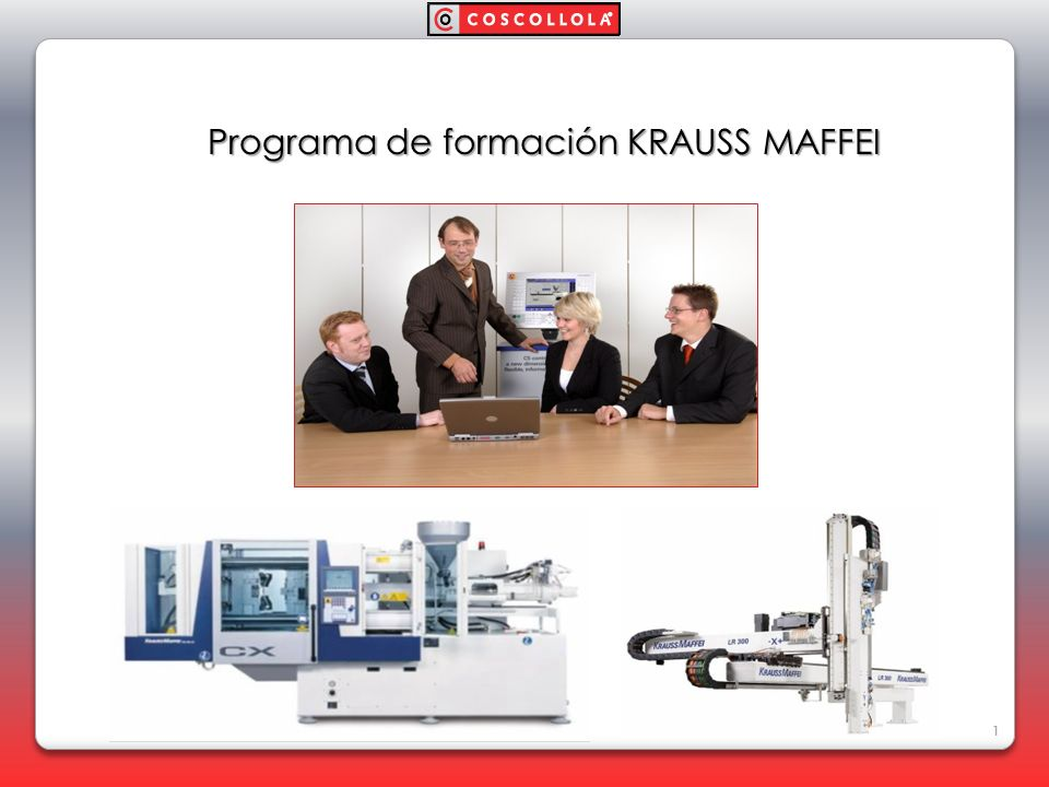 Desde nuestro departamento técnico, ponemos en marcha el servicio de formación a clientes para sus máquinas de inyección Krauss Maffei, así como los robots de la serie LRy LR-X Beneficios : 1.