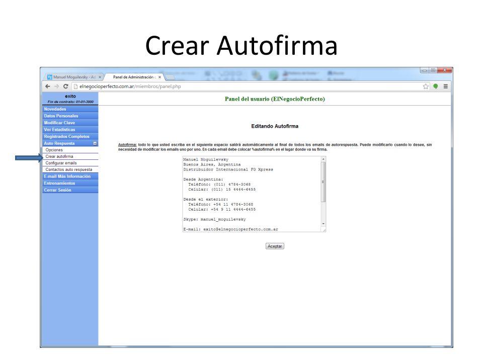 Crear Autofirma