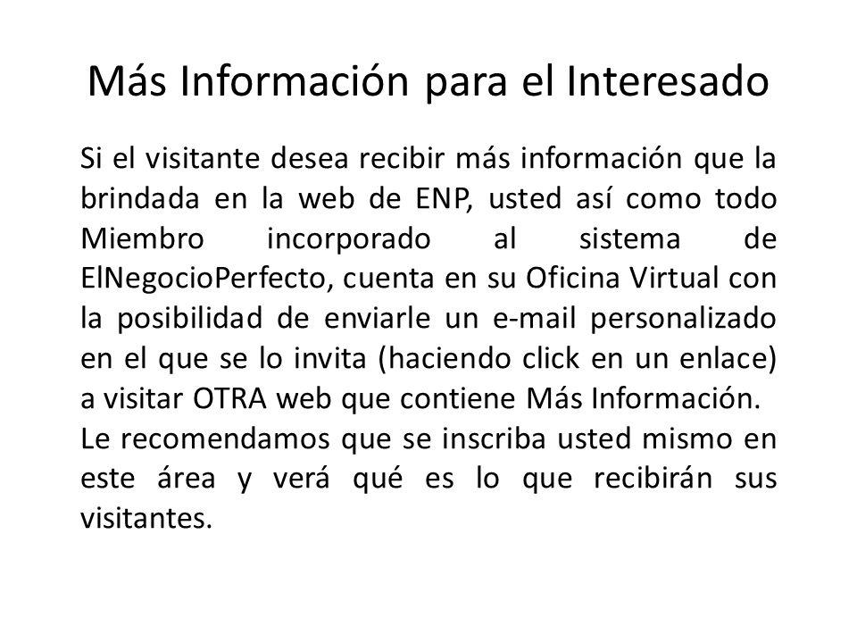 Como Solicitar la apertura de su Sitio Web Ingrese en: http://www.ElNegocioPerfecto.com.ar/presentacion (SIN ACENTO) Complete todos los datos: