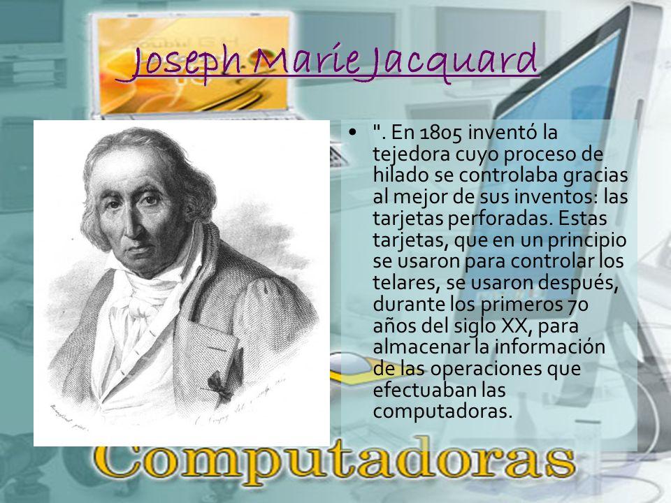 Joseph Marie Jacquard .