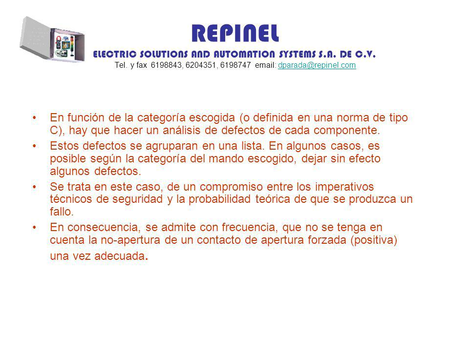 REPINEL ELECTRIC SOLUTIONS AND AUTOMATION SYSTEMS S.A. DE C.V. Tel. y fax 6198843, 6204351, 6198747 email: dparada@repinel.comdparada@repinel.com En f