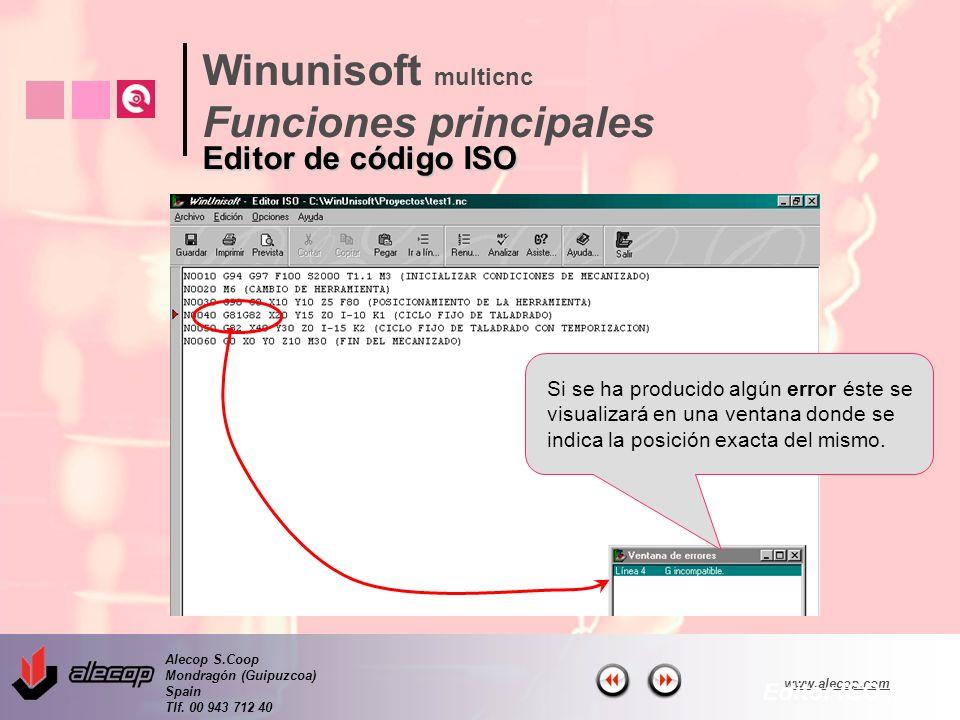 Alecop S.Coop Mondragón (Guipuzcoa) Spain Tlf. 00 943 712 40 www.alecop.com Si se ha producido algún error éste se visualizará en una ventana donde se