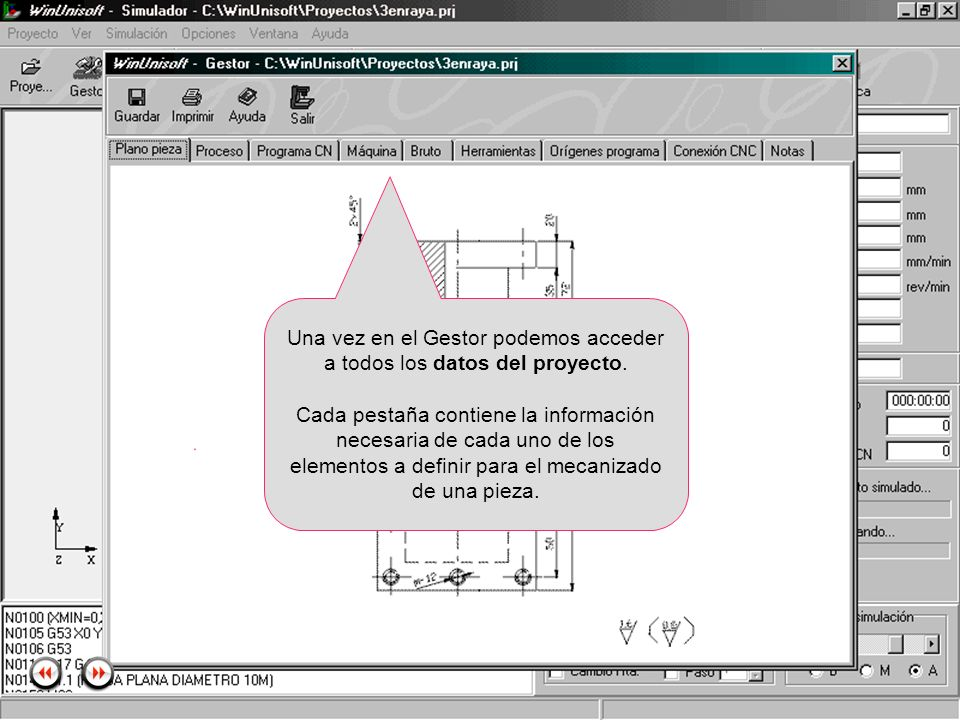Alecop S.Coop Mondragón (Guipuzcoa) Spain Tlf. 00 943 712 40 www.alecop.com Una vez en el Gestor podemos acceder a todos los datos del proyecto. Cada