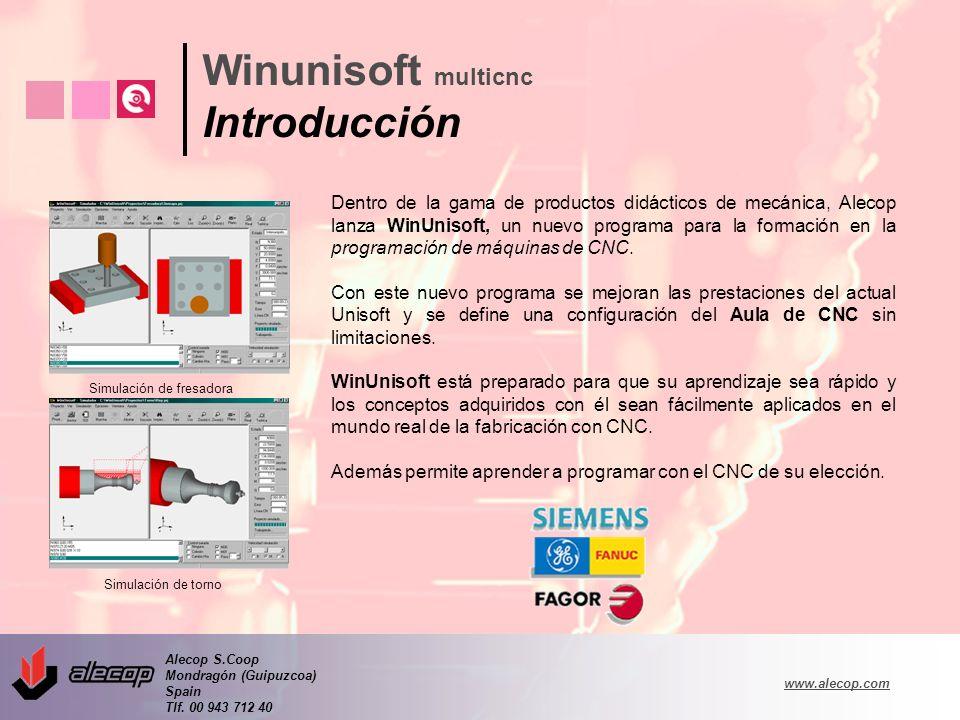 Alecop S.Coop Mondragón (Guipuzcoa) Spain Tlf. 00 943 712 40 www.alecop.com Dentro de la gama de productos didácticos de mecánica, Alecop lanza WinUni
