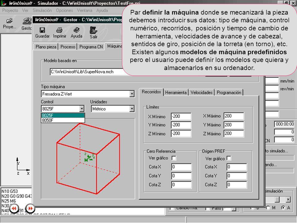 Alecop S.Coop Mondragón (Guipuzcoa) Spain Tlf. 00 943 712 40 www.alecop.com Par definir la máquina donde se mecanizará la pieza debemos introducir sus