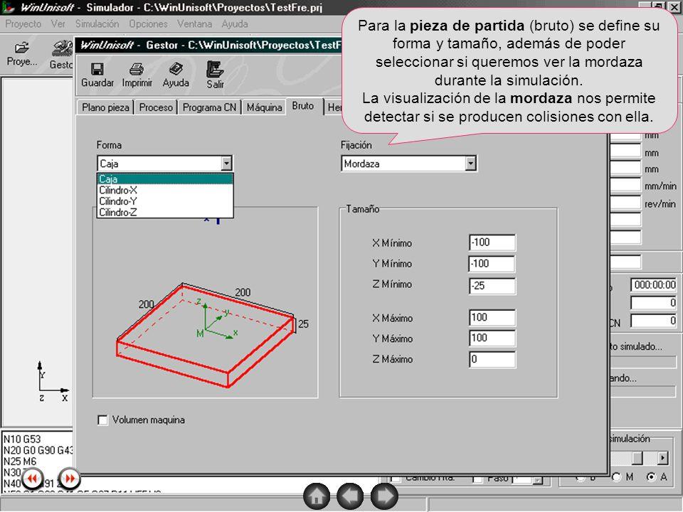 Alecop S.Coop Mondragón (Guipuzcoa) Spain Tlf. 00 943 712 40 www.alecop.com Para la pieza de partida (bruto) se define su forma y tamaño, además de po